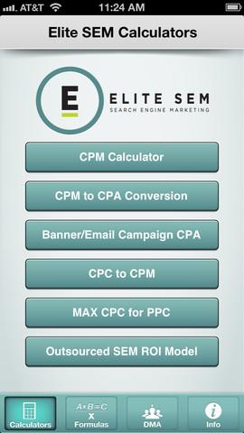 Elite SEM Calculator iPhone App Review