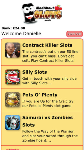 MadAbout Slots Mobile Casino