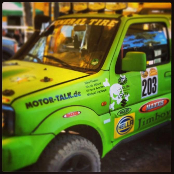 Suzuki Jimny beim GORM Open 24h Rennen mit unseren Namen