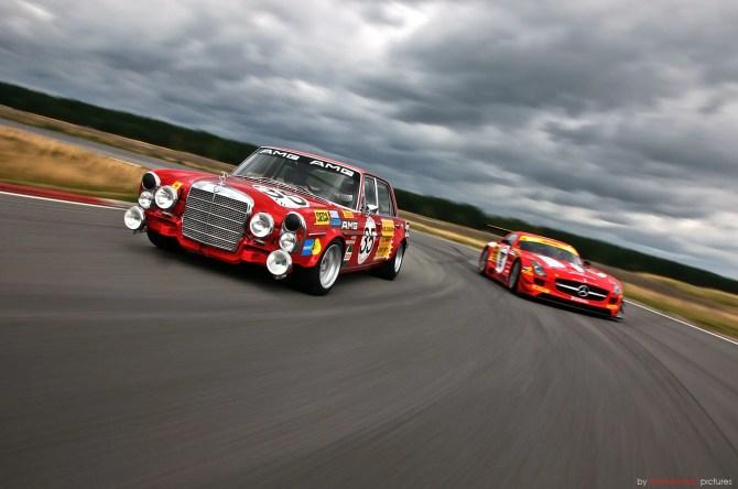 Mercedes-Benz 300 SEL 6.8 AMG & SLS AMG GT3 - Fanaticar