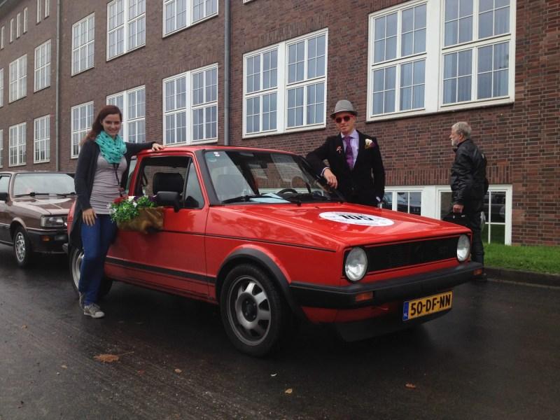 Durchgeknallte Holländer mit Blumentöpfen am Golf.