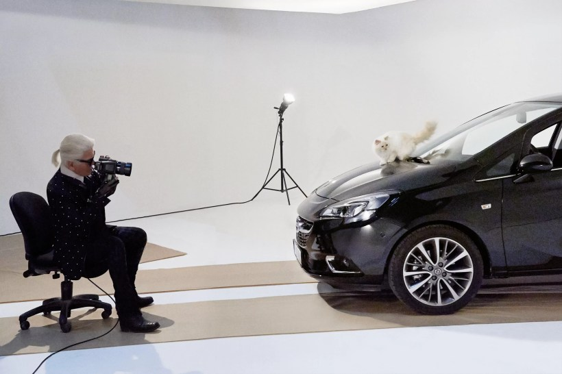 Opel Corsa calendar shoot in Paris
