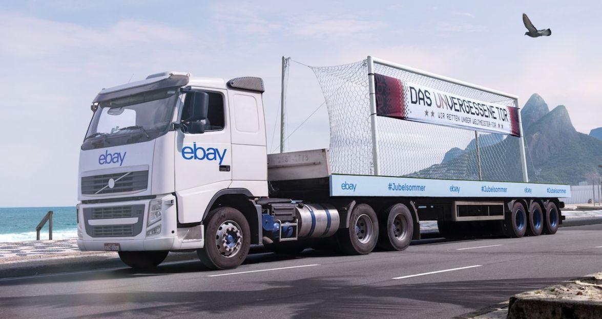 Ebay-LKW holt das Weltmeister-Tor
