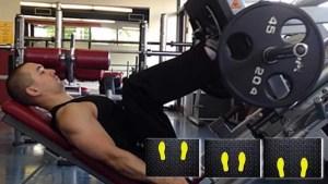 Leg Press-Posição correta do pés