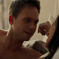 "Patrick J. Adams as Mike Ross shirtless in Suits 3x01 ""The Arrangement"""