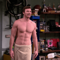 "Derek Theler as Danny Wheeler shirtless in Baby Daddy 3x11 ""The Wingmom"""