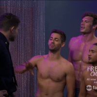 "Derek Theler as Danny Wheeler, Jean-Luc Bilodeau as Benjamin Bon Jovi ""Ben"" Wheeler and Tahj Mowry as Tucker Dobbs shirtless in Baby Daddy 4x01 ""Strip or Treat"""