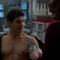 "Robbie Amell as Ronnie Raymond shirtless in The Flash 1x14 ""Fallout"""