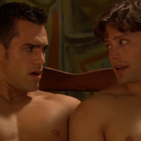 Brett Chukerman	as Marc Everhard, Marco Dapper as Troy, Nicholas James as Surfer Guy and Andrew Ley as Shane shirtless/naked in Eating Out 2: Sloppy Seconds