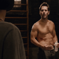 Paul Rudd as Scott Lang/Ant-Man shirtless in Ant-Man