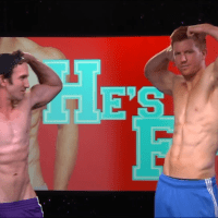 Bryce Eilenberg and Greg McKeon shirtless in He's Fit!
