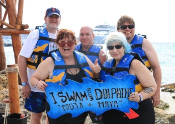 MTV, Samantha Zeffert, Terry Rylee, Adrian Duarte and Rick Martinus swam with the dolphins.