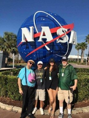 Sunny the California Girl with fanmily members at the Kennedy Space Center. Photo by Sunny the California Girl