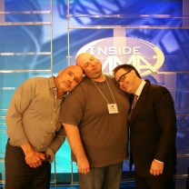 Bas Rutten, R.C. Samo and Mauro Ranallo napping in between takes at the AXS TV Studios during Inside MMA