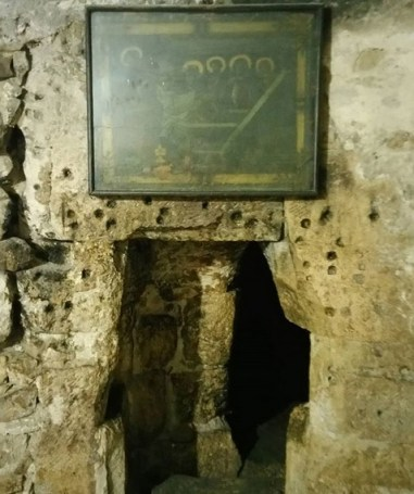 The entrance to the Tomb of Sts. Nicodemus and Joseph of Arimathea.