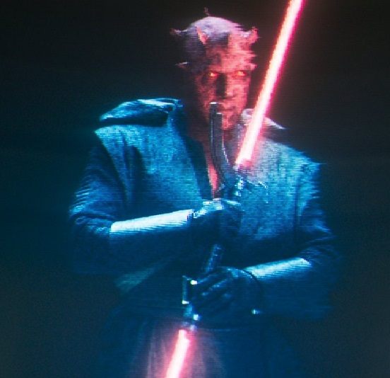 Ray Park as the physical embodiment of Darth Maul, voiced by Sam Witwer