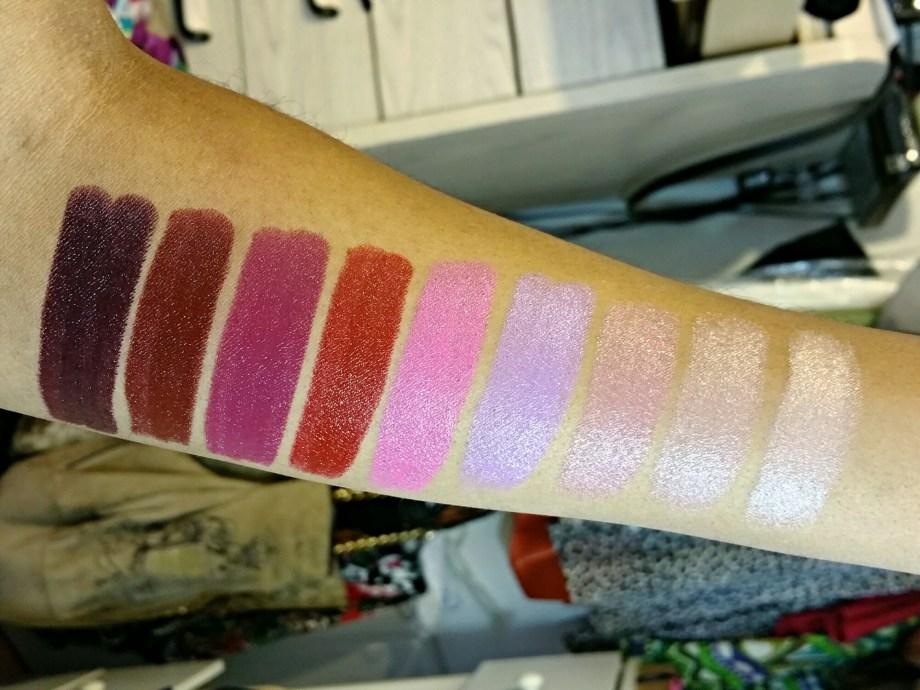 NYX Flawless, Stone, Flutter Kiss, Playdate, Privileged, Burlesque, Wine & Dine, Dahlia High Voltage Lipstick