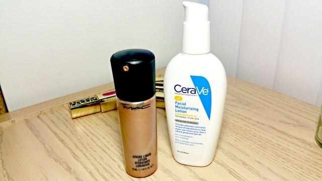 MAC Golden Elixir Strobe Liquid, Cerave Facial Moisturizing Lotion AM