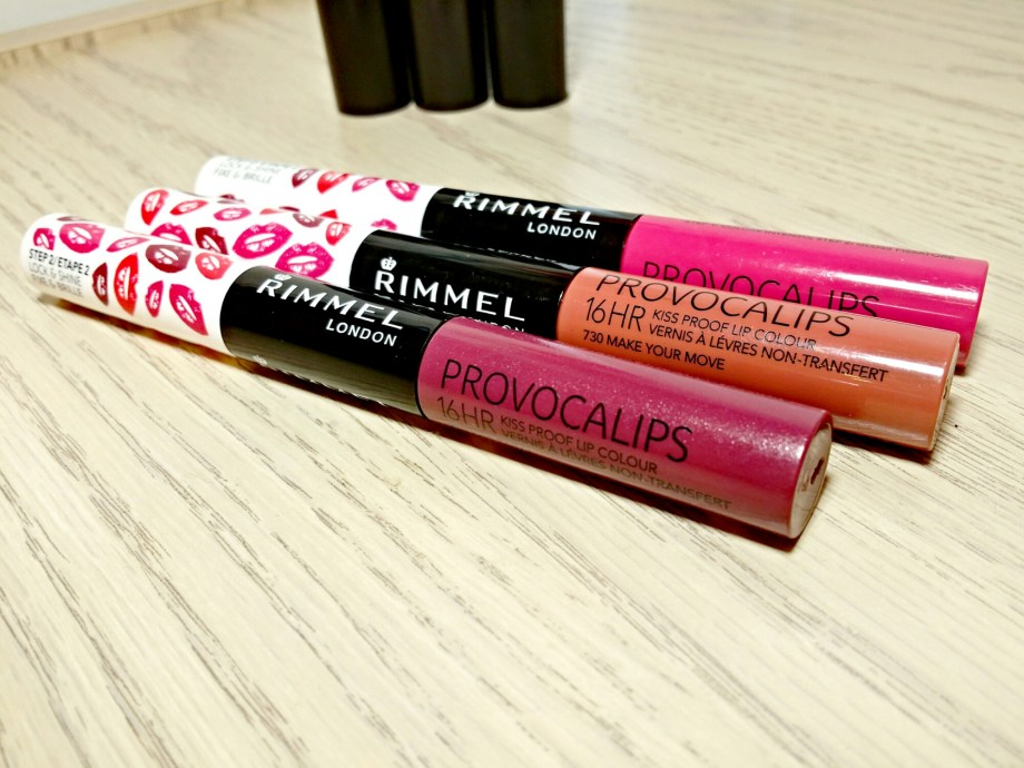 230 Kiss Fatal, 310 Little Minx and 730 Make Your Move Rimmel Provocalips 16HR Kiss Proof Lip Colors