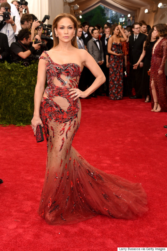 """NEW YORK, NY - MAY 04:  Jennifer Lopez attends the """"China: Through The Looking Glass"""" Costume Institute Benefit Gala at the Metropolitan Museum of Art on May 4, 2015 in New York City."""
