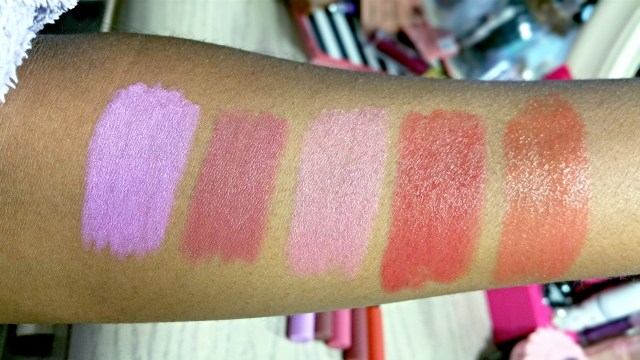 Wet n Wild The Stand Out, Timeless Chick, Pinky Candy, Fashion Darling, DJ Doll Velvet Matte Lip Color