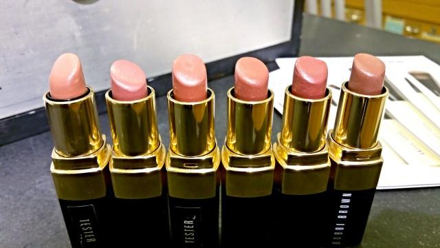 Bobbi Brown Beige, Sandwich Pink, Blondie Pink, Brown, Brownie, Cocoa Lip Color