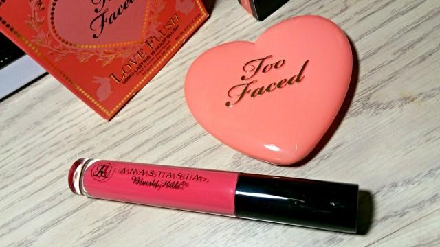Anastasia Beverly Hills Maui Lip Gloss, Too Faced I Will Always Love You Love Flush Blush