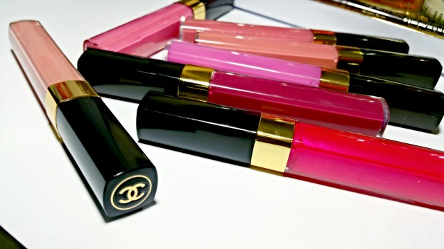 Chanel 297 Sweet Beige, 83 Magnifique, 119 Wild Rose, 357 Mystery, 03 Glaze, 169 Jalousie, 182 Tocade Glossimer Lip Glass