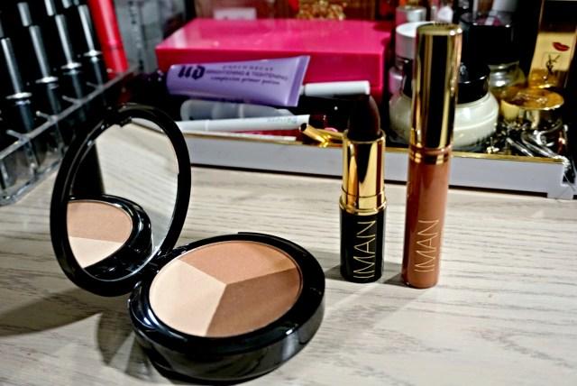 Iman Fall Collection 2015 Luxury Contour Trio, Rebel Luxury Moisturizing Lipstick, Muse Luxury Lip Shimmer