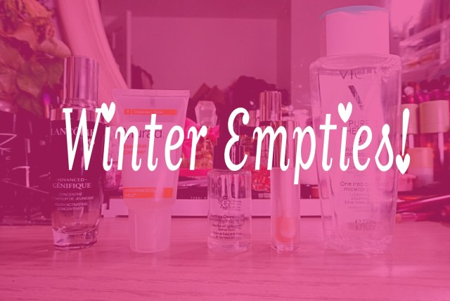 Winter Empties: Lancome Advanced Genifique Youth Activating Concentrate, Murad Essential-C Cleanser, Bobbi Brown Soothing Cleansing Oil, Milani 01 Moisturizing Almond Coco Moisture Lock Oil Infused Lip Treatment, Vichy Purete Thermal 3-in-1 One Step Cleansing Micellar Solution