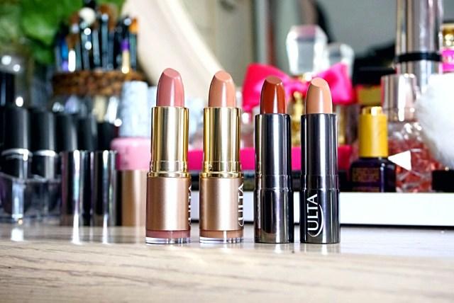 Ulta Beauty Collection 240 Pink Chocolate Nude Lipstick, 260 Sweet Mocha Nude Lipstick, 230 Chocolate Kiss Lipstick, 224 Coffee Break Lipstick
