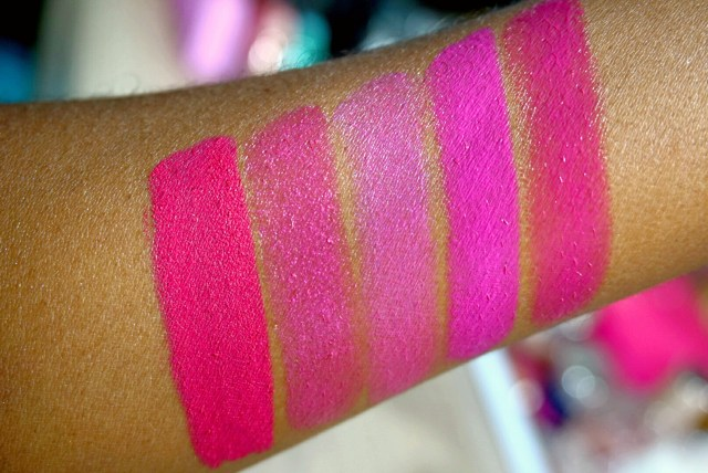 5 Bold Pinks for Summer: ColourPop Poppin' Matte X Lippie Stix, Too Faced Mean Girls La Creme Lipstick, Chanel Extatique Rouge Allure Lipstick, NYX Razzle Butter Lipstick, Urban Decay Sheer Anarchy Revolution Lipstick