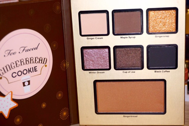 Too Faced Grand Hotel Cafe Gingerbread Cookie Palette Swatches on Dark Skin
