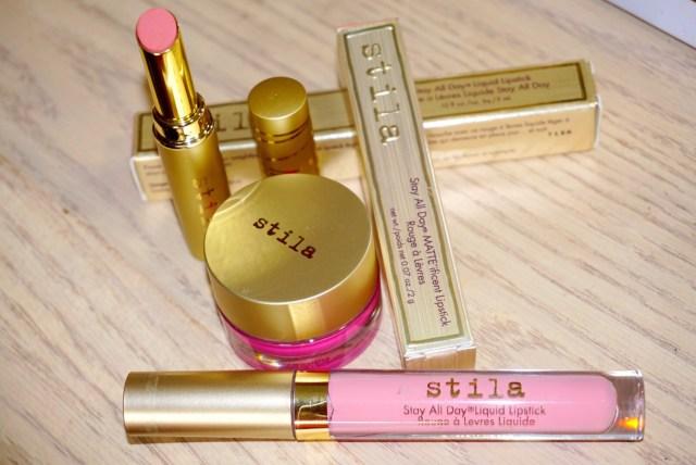 Stila Papillon Stay All Day MATTE'ificent Lipstick, Rosa Stay All Day Liquid Lipstick, Water Blossom Aqua Glow Watercolor Blush