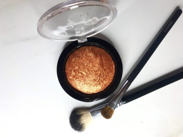 MAC Taraji Glow Mineralize Skinfinish and Makeup Revolution Rock on World Vivid Baked Bronzer Swatches on Dark Skin