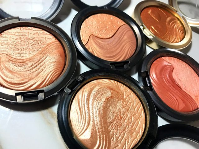 MAC My Mimi Extra Dimension Skinfinish, Double Definition Extra Dimension Skinfinish, Shape the Future Extra Dimension Skinfinish, Whisper of Gilt Extra Dimension Skinfinish, Magnetic Appeal Extra Dimension Skinfinish