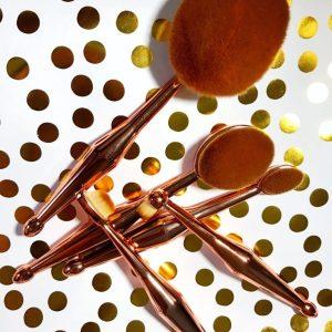 Blog Sale: Rose Gold Oval Makeup Brush Set