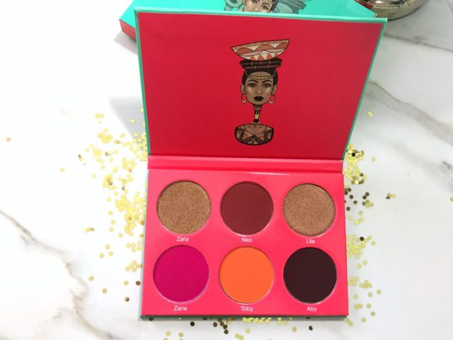 Juvia's Place Saharan Blush Palette Volume I Swatches on Dark Skin