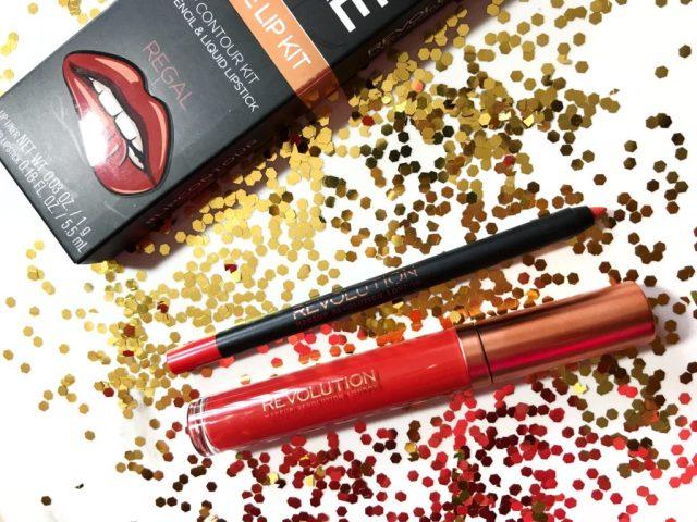 Makeup Revolution Regal Retro Luxe Matte Lip Kit Swatches on Dark Skin
