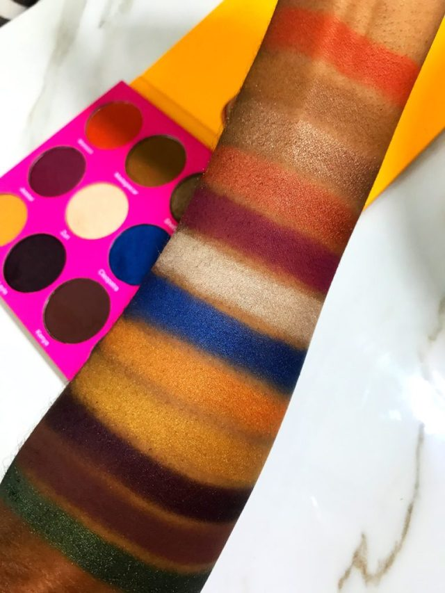 Juvia's Place Nubian 2 Palette Swatches on Dark Skin