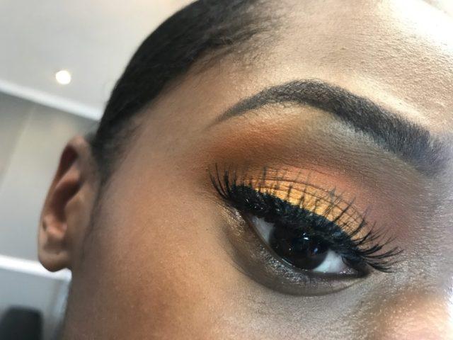 Easy Sunset Inspired Eyes for Fall Eyeshadow Tutorial on Dark Skin Black Women Brown Skin Women of Color WOC