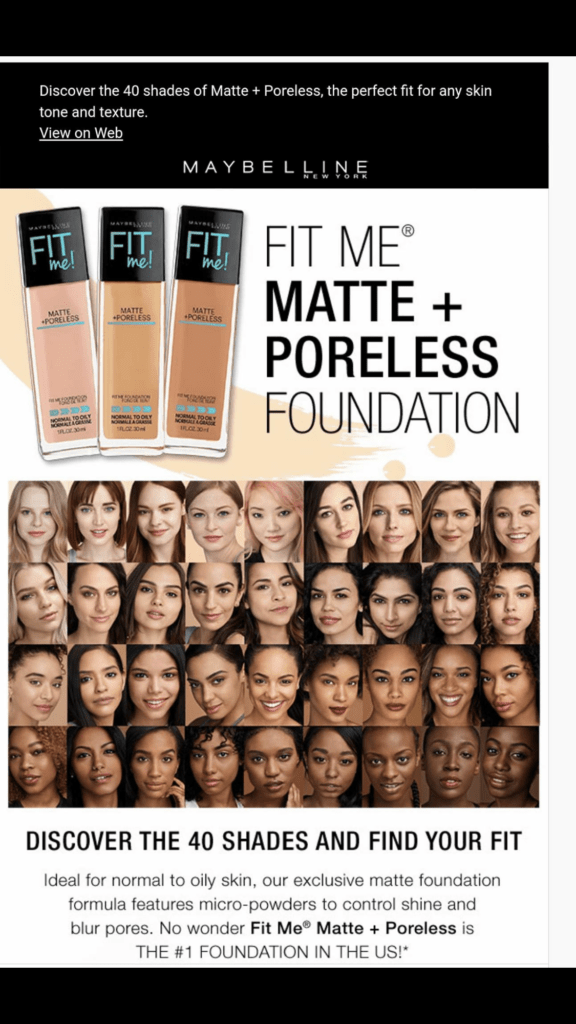 We NEEDED Fenty Beauty and Here's Why: Maybelline Fit Me Matte + Poreless Foundation Instagram