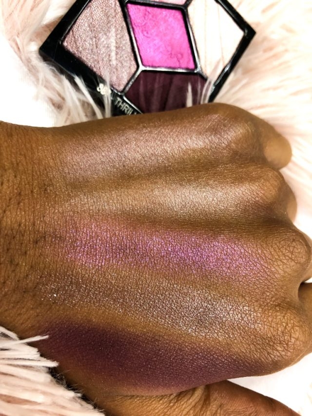 Dior Glow Addict Spring Collection 2018 5 Couleurs Palette 887 Thrill Swatches on Dark Skin