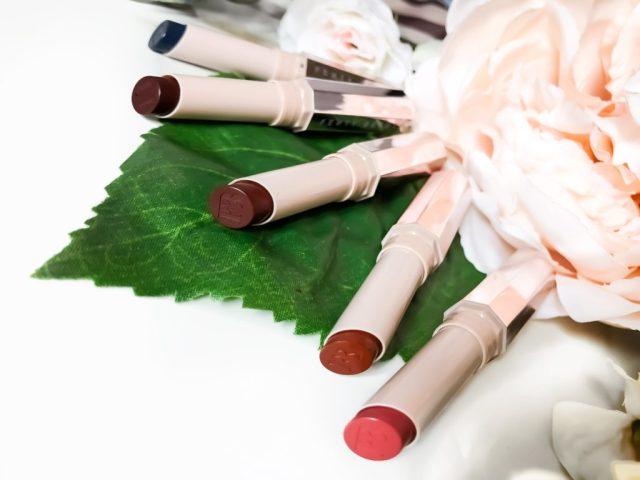 Fenty Beauty MatteMoiselle Plush Matte Lipistick Swatches on Dark Skin: Spanked, Shawty, PMS, Griselda and Clapback