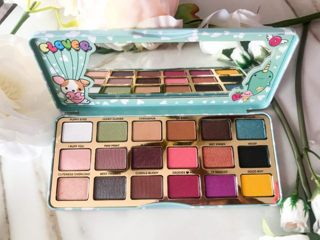 Too Faced Clover Eyeshadow Palette Swatches on Dark Skin