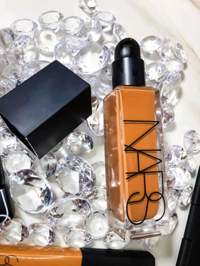NARS Natural Radiant Longwear Foundation in Macao Swatches Review Dark Skin