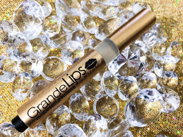 Grande Cosmetics Instant Hydrating Lip Plumping Gloss in Clear Swatches Review on Dark Skin