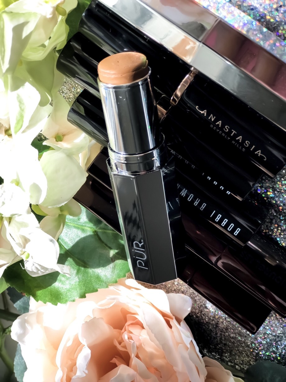 Pur Cosmetics 4-in-1 Foundation Stick in Deep Swatches on Dark Skin Review