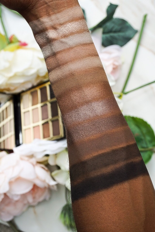 Milani Soft and Sultry Eyeshadow Palette Swatches on Dark Skin