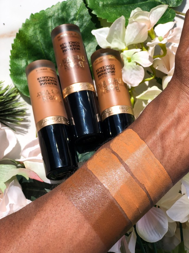 Too Faced Born This Way Super Coverage Multi-Use Sculpting Concealer in Chestnut, Maple, Cocoa Review Swatches on Dark Skin